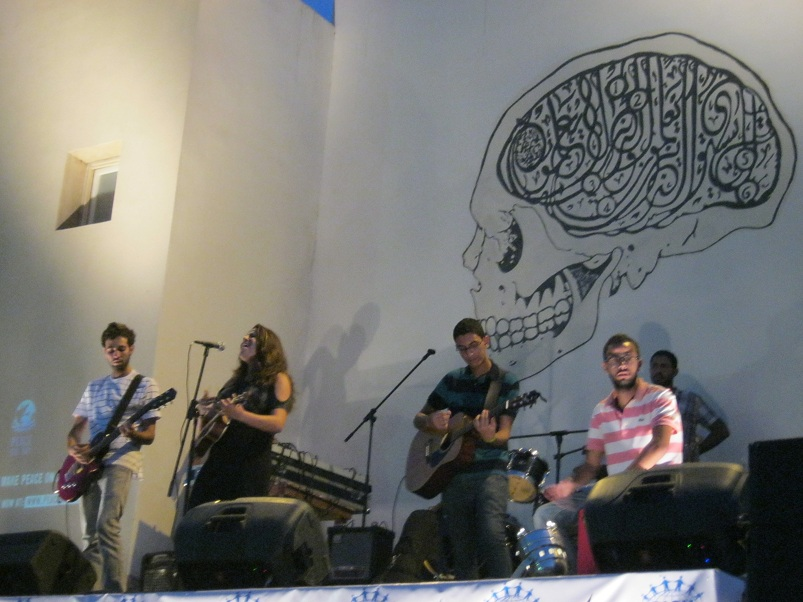 Each of the ten bands brought a unique sound and feeling to the Peace One Day at Darb 1718 Luiz Sanchez