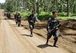 Philippines security forces mount a patrol on the island of Mindanao (File photo) AFP PHOTO
