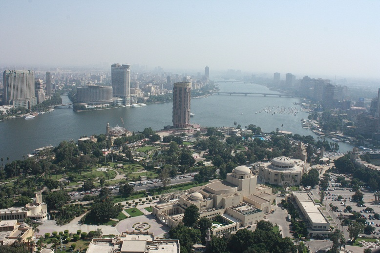 View South from the Cairo tower taking in the Opera House, river Nile and Manial island Rana Muhammad Taha