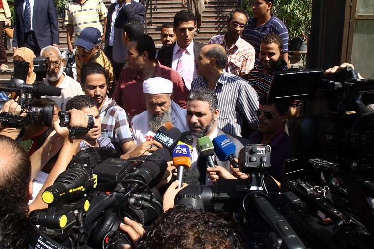 Scene outside the Supreme Administrative Court on 22 September after the court issued two judgments concerning repeating the People's Assembly elections Mohamed Omar