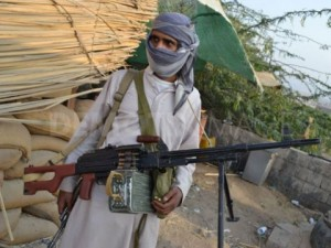 A militiaman in northern Yemen AFP PHOTO