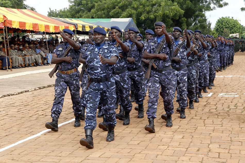 Soldiers march during the independence day celebrations in Bamako on 22 September 22. The goverment in Mali approved the deployment of ECOWAS troops to help fight the insurgents in the north of the country AFP PHOTO / HABIBOU KOUYATE