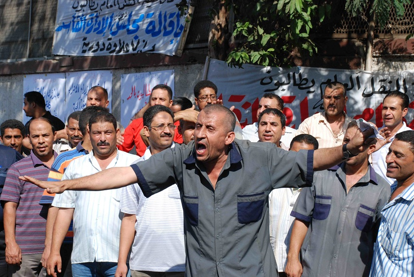 Transport workers protesting on 18 September 2012 Mohamed Omar