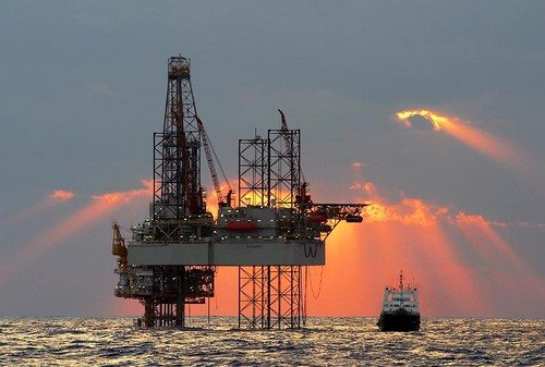 Offshore gas rig in the Mediterranean AFP PHOTO