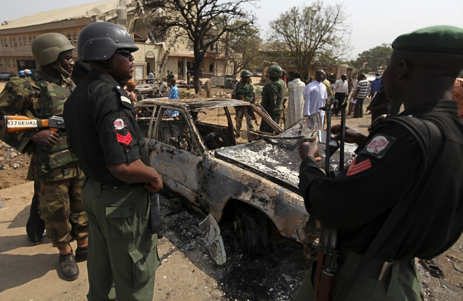 Bomb blast caused by Boko Haram (File photo) AFP PHOTO