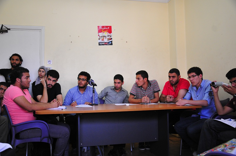 Conference of the students movement at the Egyptian Stream Party offices in Ramsis Street Hassan Ibrahim