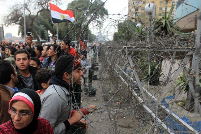 Egyptian Copts protest outside the Maspero state television headquarters (File photo) AFP / KHALED DESOUKI