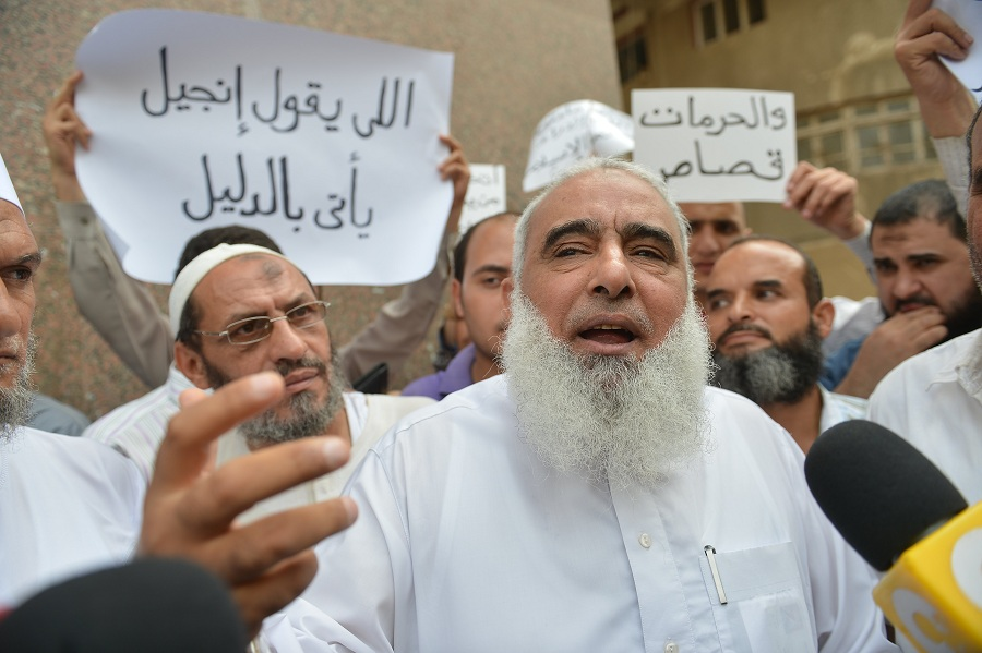 "A criminal court ruled on Monday to release Islamic preacher ""Abu Islam"", on bail of 20, 000 Egyptian pounds in a blasphemy case. (File Photo) AFP PHOTO / KHALED DESOUKI"