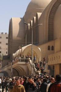 St Marks cathedral in Cairo, the Coptic community is still waiting for Pope Shenouda III's successor Laurence Underhill / DNE