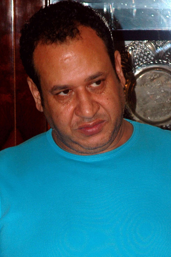 Egyptian Sabri Helmi, also known as Nakhnukh, is seen during a press conference following his arrest in the coastal city of Alexandria on 24 August AFP PHOTO / Stringer