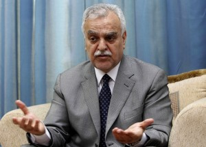 Fugitive Iraqi vice president Tareq al-Hashemi speaking during an interview on 25 December 2011 AFP PHOTO/SHWAN MOHAMMED