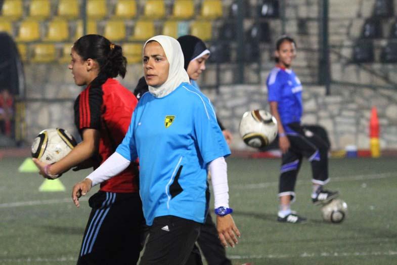 The first generation of female coaches trains girls at Wadi Degla sports club Rachel Adams / DNE