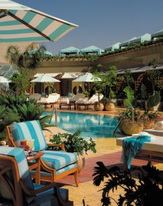 The pool at the Four Seasons Nile Plaza Four Seasons Hotel Cairo at Nile Plaza