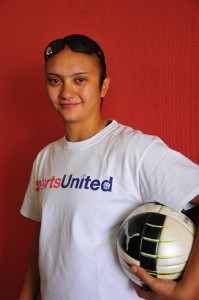 Marwa El-Hawat, General Coach for the Egyptian Under 17 girls' football team Rachel Adams / DNE