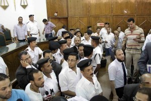 Police officer monitor proceedings in an Egyptian Court (File photo) Mohamed Omar