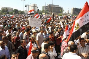 Supporters of Muslim Brotherhood occupy Tahrir Square last Friday, overshadowing the civil group protest and leading to clashes. Civil groups have called for fresh demonstrations this Friday. (Photo by Mohamed Omar)