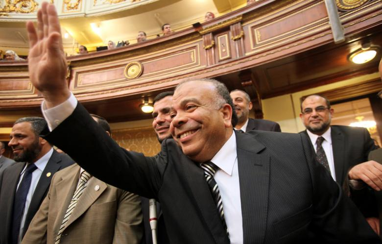 """I have met today with [Al-Dostour Party Chairman] Mohamed ElBaradei and [Al-Wafd Party Chairman] El-Sayed El-Badawi to exchange points of view regarding the current political situation,"" El-Katatni said (File Photo)(AFP-Photo)"