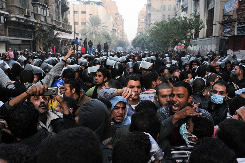 Repressive measures associated with the state of emergency that was in force until May of this year were used to detain and convict protesters from clashes such as Mohamed Mahmoud Street in November 2011 (File photo) Laurence Underhill / DNE