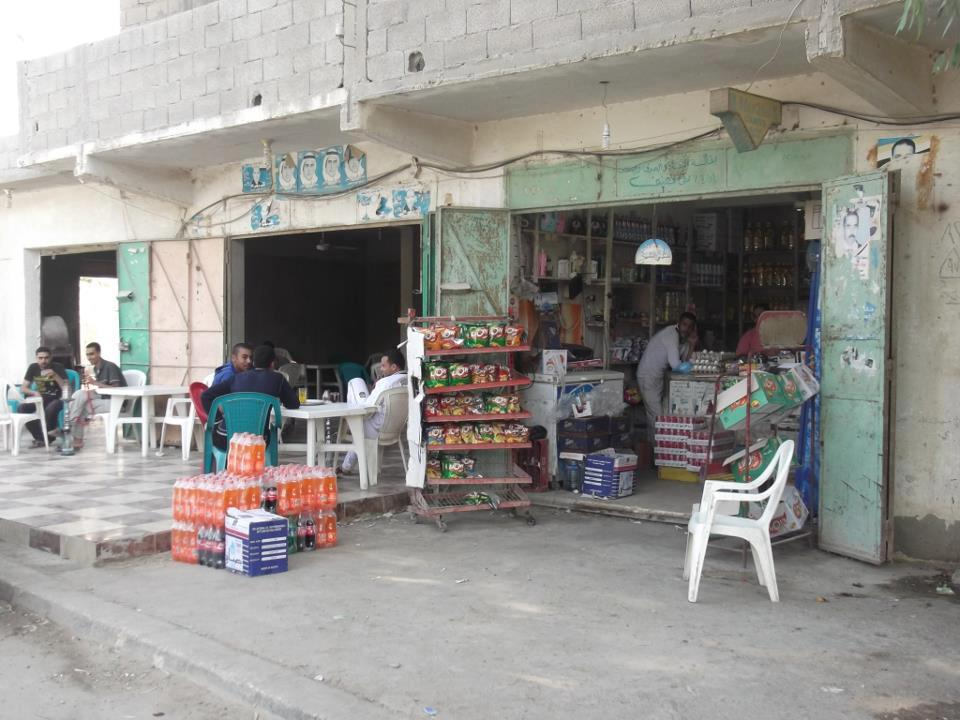 Shop in Rafah that was shot at by men riding on a motorbike (File photo) Daily News Egypt