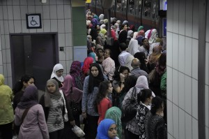 The Al Giza-Shobra line metro (File photo) Mohamed Omar
