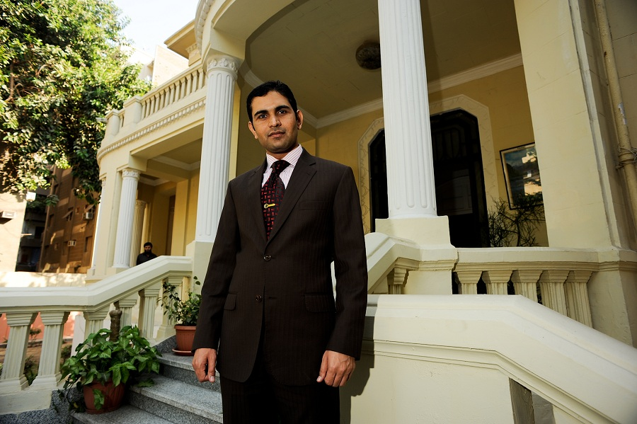 Tanvir Ahmad, Charge d'affaires for the Pakistan embassy in Cairo Laurence Underhill / DNE