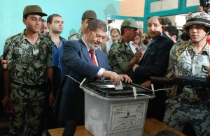 Morsy casts his vote in the presidential elections Mohamed Omar