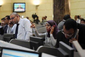 Egyptian Stock Exchange. (PHOTO BY MOHAMED OMAR)