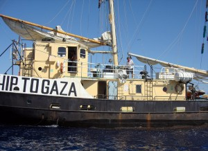 The Israeli navy on Saturday boarded a boat carrying pro-Palestinian activists and parliamentarians seeking to breach Israel's naval blockade on Gaza. (AFP Photo)