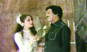 Scene from Al Motazawegoon with Samir Ghanem and Sherine
