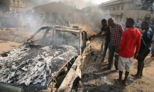 Explosions and gunfire shook the northeastern Nigerian city of Potiskum on Thrusday. (AFP/ Getty Images)