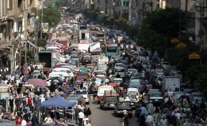 The strike caused severe congestion across Cairo (file photo) (AFP Photo/ Mahmud Hams)