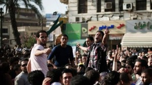 The chairman of Al-Nour party says that protesting was only a last resort. (AFP Photo)