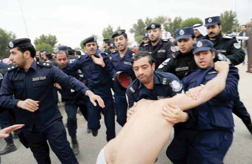 The Egyptian citizen was allegedly subjected to violence and humiliation at the hand of the Kuwaiti police. (AFP PHOTO)
