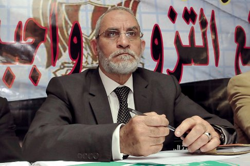 Mohamed Badie, Egyptian Muslim Brotherhood's spiritual leader. AFP/ Getty Imaged
