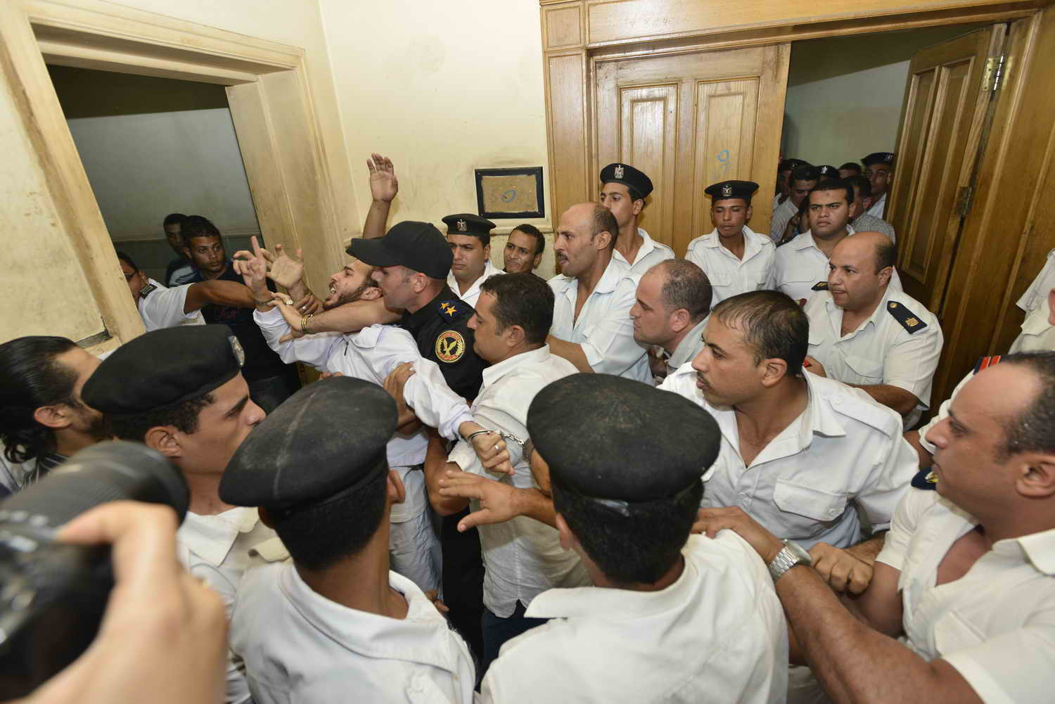 The prosecution has demanded the court deliver the strictest penalty for Saber: five years imprisonment. (Photo by Mohamed Omar)