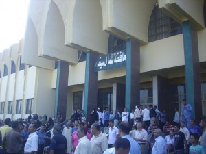 Protests in front of North Sinai governorate building Nasser Elazazy
