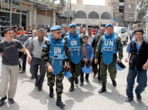 UN is mulling the deployment of peacekeeping forces in Syria. (AFP)