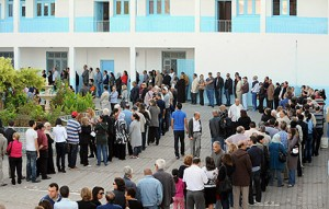 Huge turnout in Tunisia's first free election. (AFP Photo)