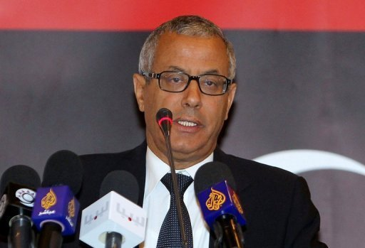 Ali Zeidan, an ex-diplomat who defected from dictator Moamer Kadhafi's regime, is pictured in 2011 (AFP/File, Karim Jaafar)