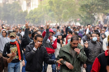 Apart from one man, all defendants on trial in relation to the Mohamed Mahmoud Street clashes have been granted amnesty. (DNE / FILE PHOTO / LAURENCE UNDERHILL)