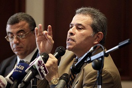 The Administrative Court rejected a lawsuit filed by Tawfiq Okasha, the owner of Al-Fara'een, to resume broadcasting of his channel. (DNE / FILE PHOTO / MOHAMED OMAR)