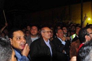 Mohamed ElBaradei attends a protest rally in the Shubra district of Cairo. (DNE/ Ethar Shalaby)
