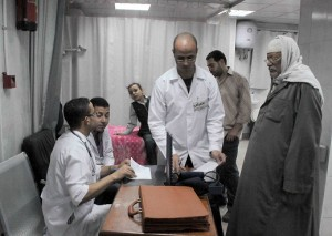 The report accuses public figures of confiscating public money intended to provide medical care to those wounded during the 2011 revolution. (PHOTO BY MOHAMED OMAR)