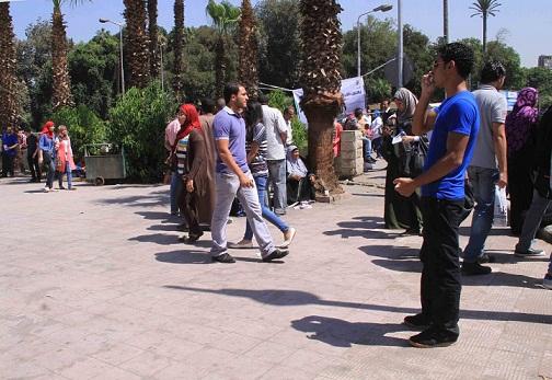 Cairo University faculty of law opposed President Mohamed Morsy's constitutional declaration. (DNE/ File photo/ Mohamed Omar)