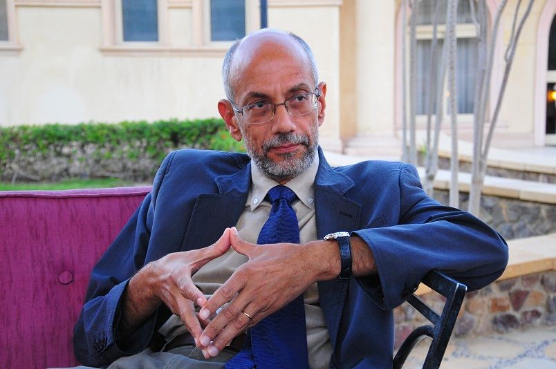 Presidential adviser Ayman Al-Sayyad speaks to Daily News Egypt Hassan Ibrahim / DNE