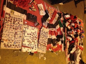 Pins and flags on Tahrir square Basil El-Dabh