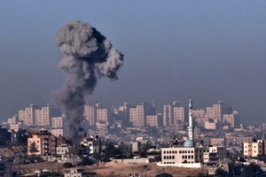 Air strike in Gaza. (AFP PHOTO)