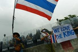 Saturday's violence appears to mark a new phase in Thailand's long-running political crisis. (AFP / Christophe Archambault)