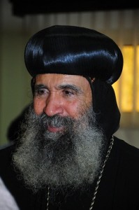 Bishop Basanti talks to Daily News Egypt. (DNE / Hasan Ibrahim)