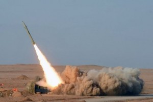 An Iranian missile launch in July. (ISNA NEWS AGENCY / AFP / FILE PHOTO / ARASH KHARMOUSHI)